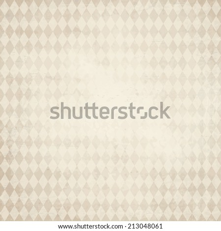 vector of old vintage paper background with checkered Oktoberfest pattern - stock vector