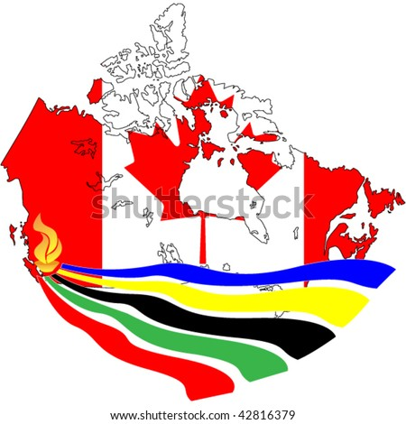 vector of olympic torch in Vancouver, Canada