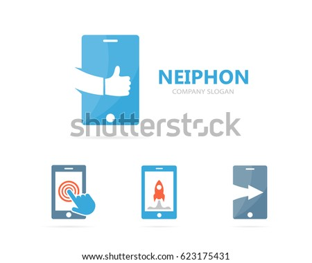 Vector Phone Like Logo Combination Mobile Stock Vector Royalty Free