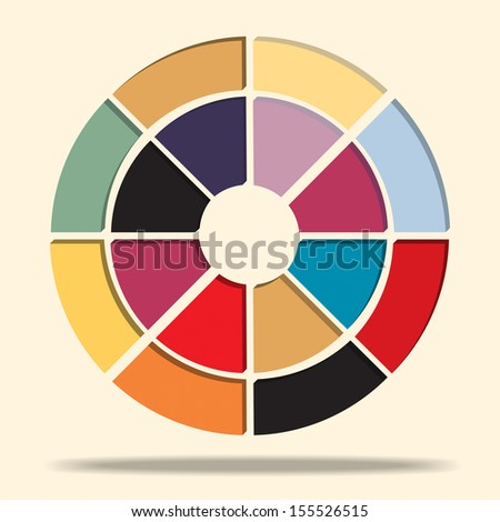Vector of pie chart 3d style - stock vector