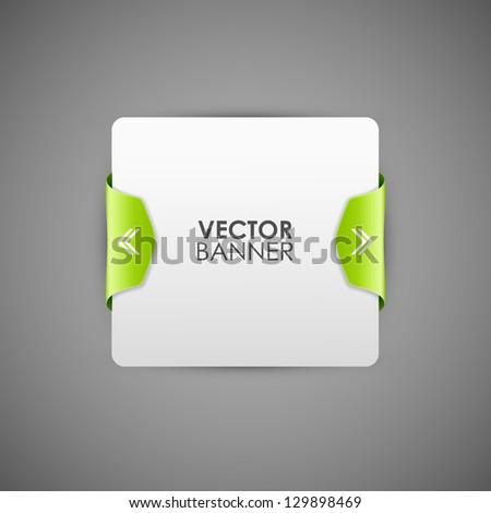 Vector of rectangular banner with green frame - stock vector