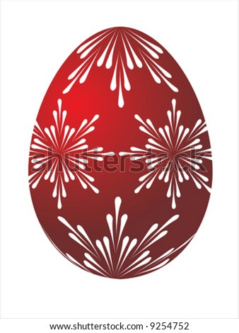 Vector of red egg on white background