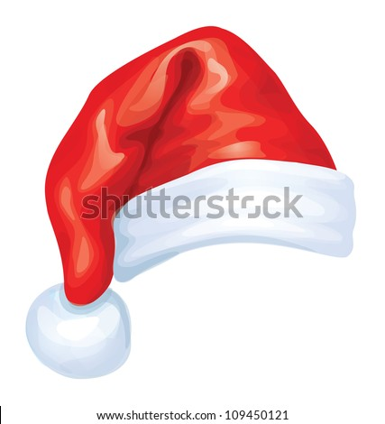 Vector of red Santa Claus hat. - stock vector