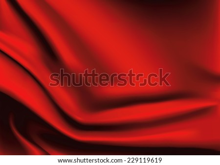 Vector of Red silk fabric background - stock vector