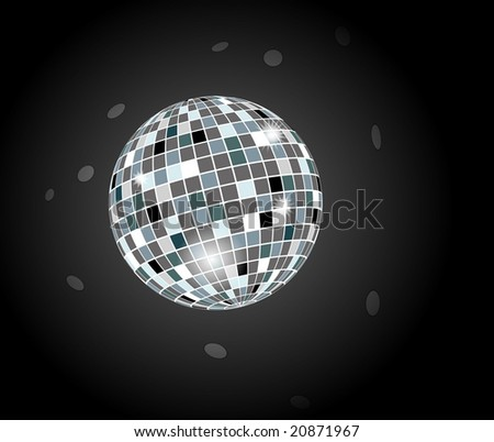 Vector of  retro party background with disco ball
