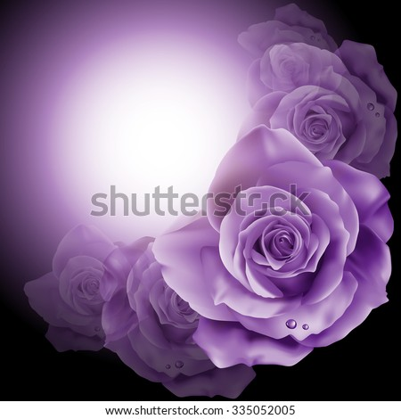Vector of rich background with flowers roses  - stock vector