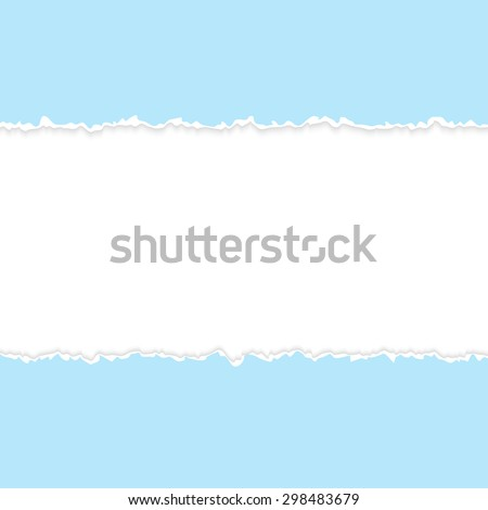 vector of ripped open paper light blue