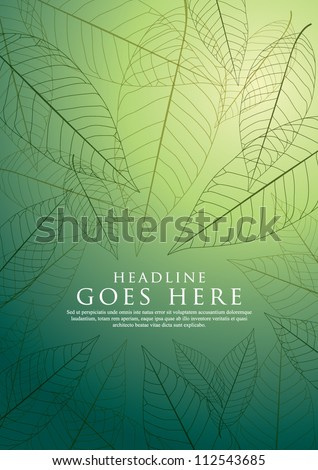 vector of seamless graphical leaves - stock vector