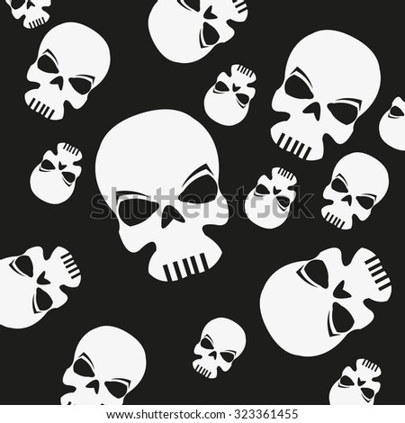 Vector of skull symbol or icon