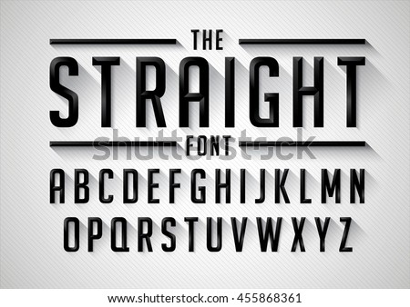 Vector of stylized bold font and alphabet - stock vector