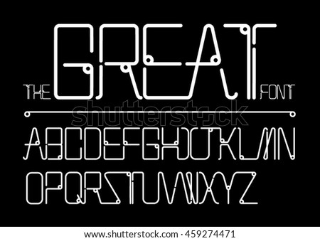 Vector of stylized font and alphabet - stock vector
