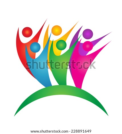 Vector of successful teamwork business icon image design - stock vector