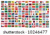 vector of the national flags - stock photo