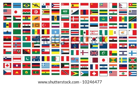vector of the national flags - stock vector