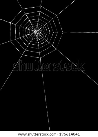 vector of the spider web on black background - stock vector
