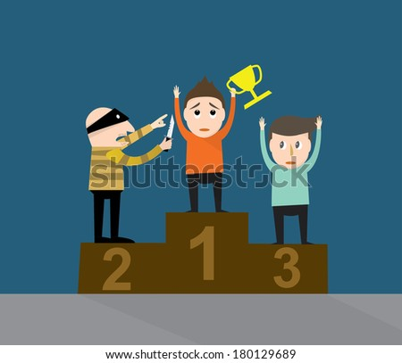 vector of the  successful robbing  - stock vector