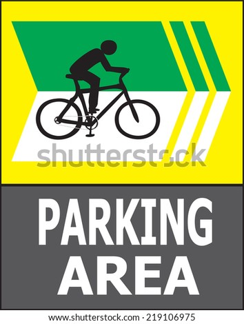 Vector of turn right sign show that it allow only bicycle can park in this area.