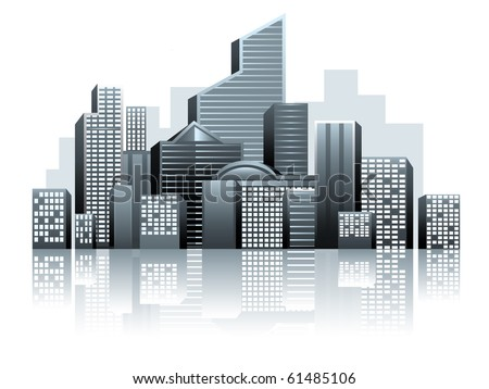 Vector of urban city - stock vector