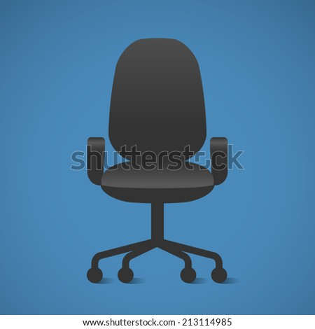Vector Office chair. The Black office chair - stock vector
