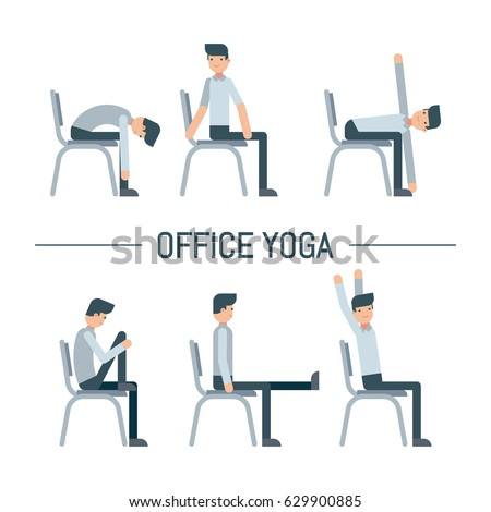 chair yoga stock images, royalty-free images & vectors | shutterstock