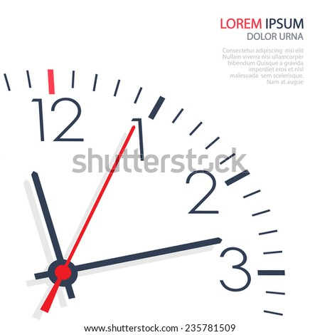 Vector office clock on white background - stock vector