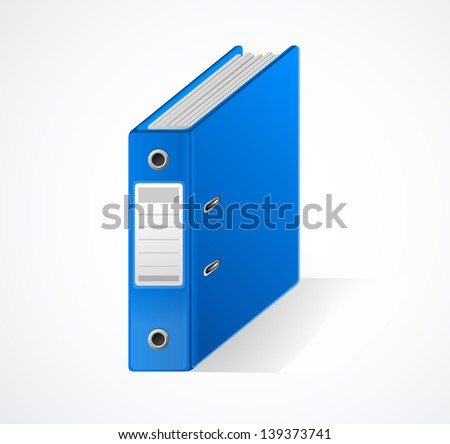 Vector Office folder - stock vector