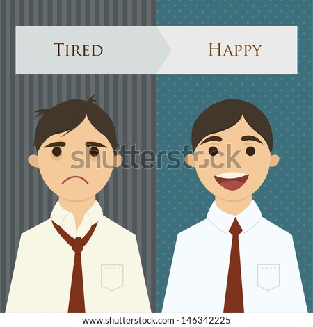 Vector office worker - stock vector