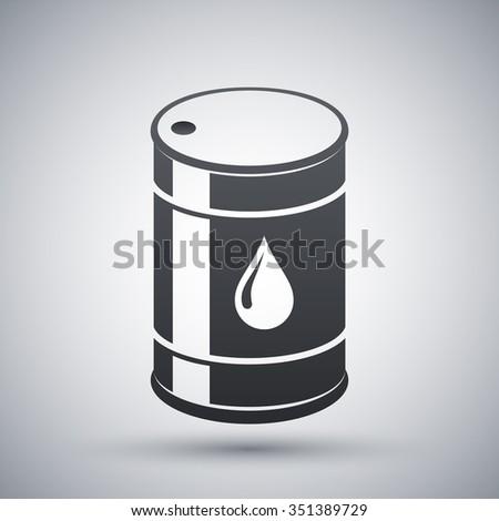 Vector oil barrel icon - stock vector