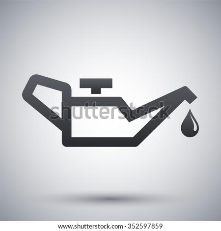 Vector oiler icon - stock vector