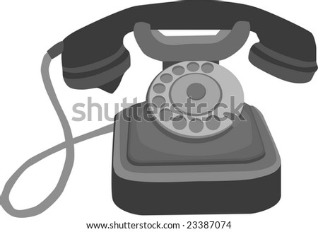 vector - old phone isolated on white background