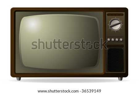 vector old retro tv - stock vector