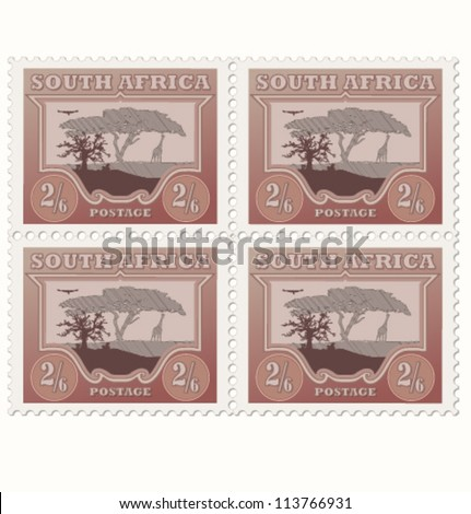 Vector old stamps - stock vector