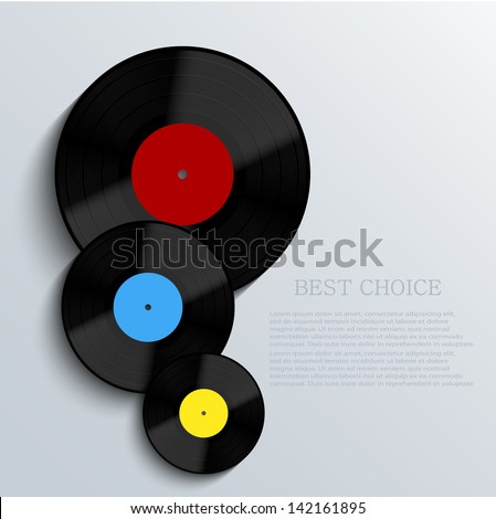 Vector Old vinyl record background. Eps10 - stock vector