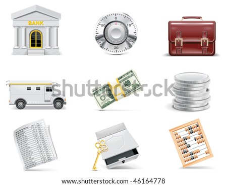 Vector online banking icon set. Part 3 - stock vector