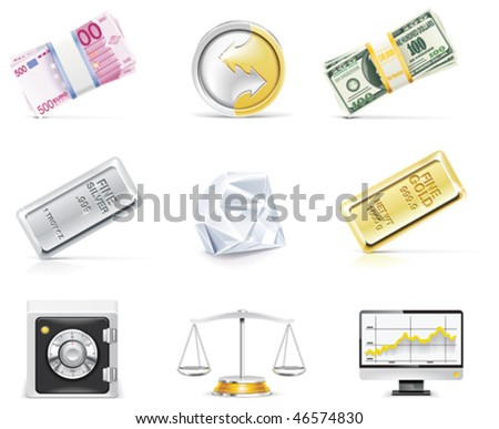 Vector online banking icon set. Part 5 - stock vector