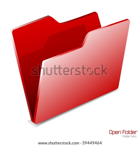 Vector.Open Folder icon isolated.JPG version in my portfolio. - stock vector