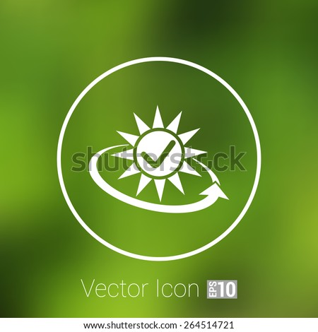 Vector open icon clock time delivery timetable day arrow sign. - stock vector