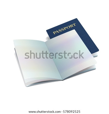 Vector International Passport Template Sample Personal Stock