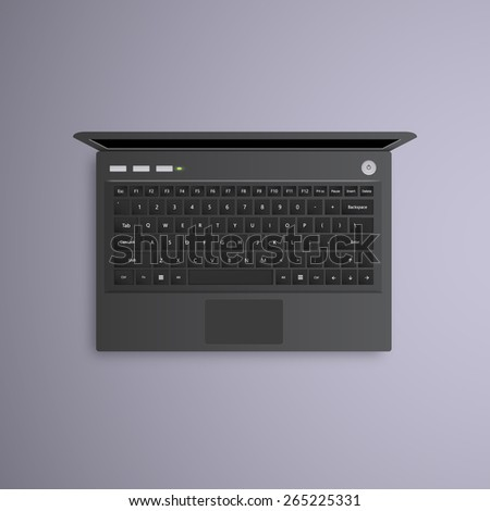 vector open laptop isolated. - stock vector
