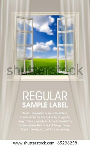 Vector Opening Window - stock vector