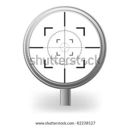 Vector optical sight . - stock vector