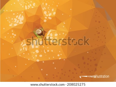 Vector orange background. Low-poly triangular style illustration - stock vector