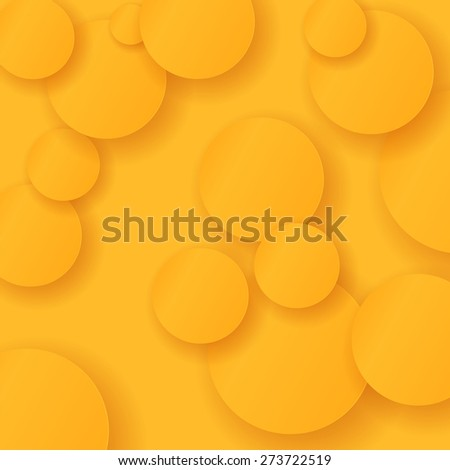 Vector Orange Circles Background. Useful for Your Design. - stock vector