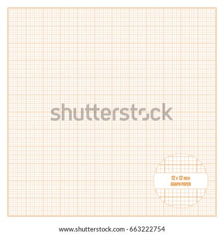 Vector orange printable graph paper 12x12 stock vector 663222754 vector orange printable graph paper 12x12 inch size grid accented every inch malvernweather