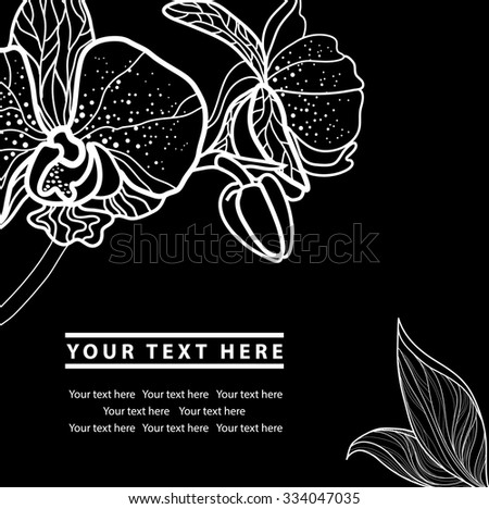Vector organic natural floral frame background - design elements - stock vector
