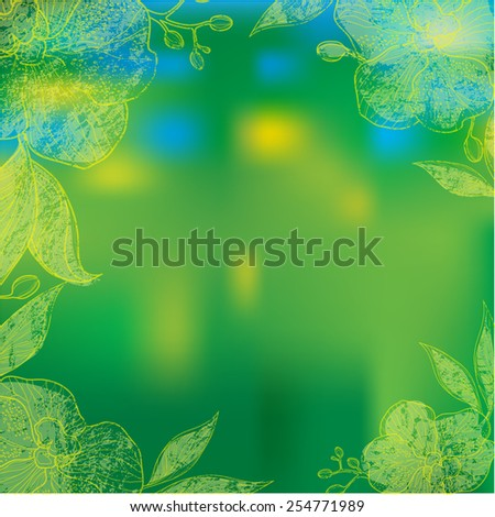 Vector organic natural frame background - design elements - stock vector