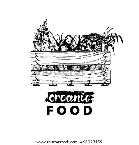 Vector Organic Vegetables Logo Farm Eco Stock Vector ...