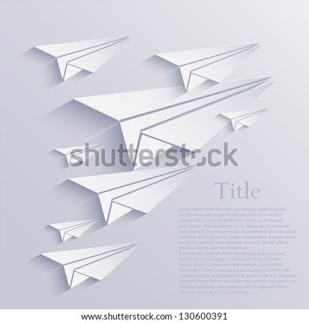 Vector origami airplane icon background. Eps10 - stock vector