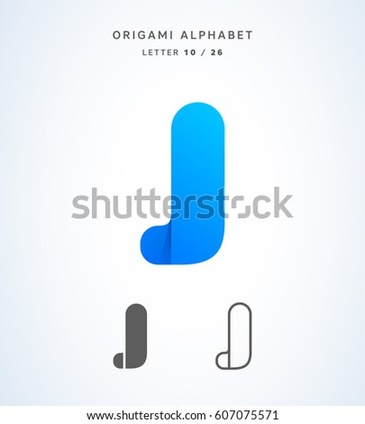 origami j letter