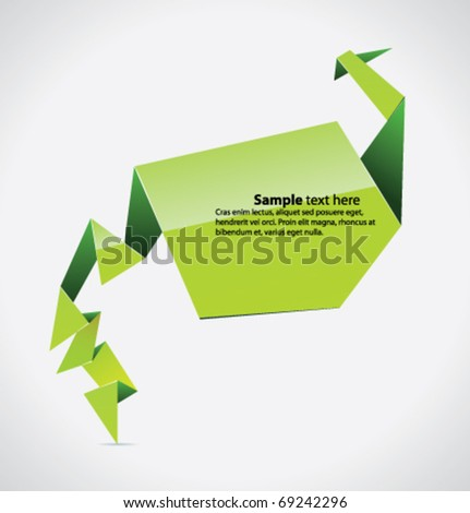 Vector origami background for you presentation - stock vector